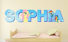 My Little Pony Fluttershy Customize Your Name Wall Decal Decor Kids Sticker Vinyl Decal 3d Wall In 2020 Name Wall Decals Wall Decals Kids Stickers