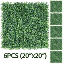 6pcs 20 X 20 Artificial Boxwood Panel Fence Hedge Greenery Garden Decor Grass For Sale Online