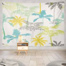 Amazon Com Threetothree Colorful Tapestry Wall Hanging Farm Wall Art Wall Decor Palm Trees California Grey Blue Pattern Tree Wall Tapestry For Bedroom Living Room Dorm Decor 80x60 Inches Everything Else