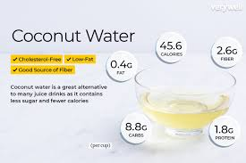 coconut water nutrition facts calories