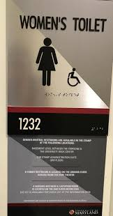 inclusive restrooms and signage