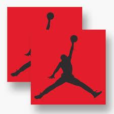 11 Inches Black Nba Jordan 23 Jumpman Logo Air Huge Vinyl Decal Sticker For Wall Car Room Windows Wall Decals