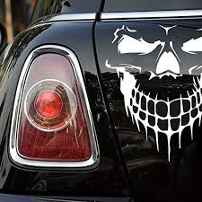 18 Black Skull Hood Decal Vinyl Large Graphic Sticker Car Truck Window Gx
