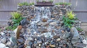 diy backyard waterfall you
