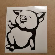 Cute Pig Vinyl Decal Pig Wall Art Pig Car Decal Pig Wall Vinyl Piglet Decal Pig Decal Pig Wall Sticker Piglet Cute Art Pig Wall Art Cartoon Body Pig Cartoon