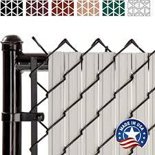 Amazon Com Solitube Slat Privacy Inserts For Chain Link Fence Double Wall Vertical Bottom Locking Slats With Wings For 6 Fence Height Gray Garden Outdoor