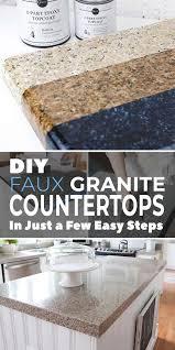 diy faux granite countertops in just a