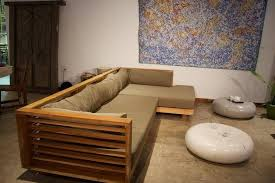 l shaped sofa made of solid teak wood