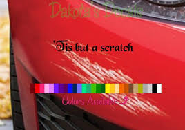 Tis But A Scratch Car Decal Etsy