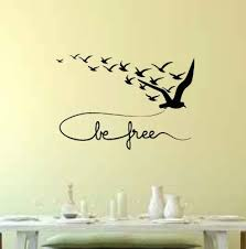 Bungalow Rose Zenon Be Free With Flying Birds Wall Decal Wayfair