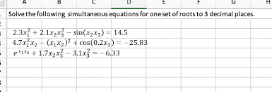simultaneous equations in excel most