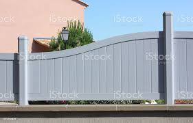 Fence Pvc Panels Fixed On A Wall Closed Garden Stock Photo Download Image Now Istock