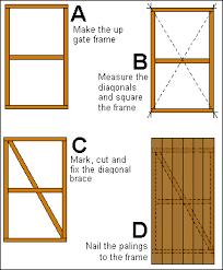 how to build a wooden gate building a