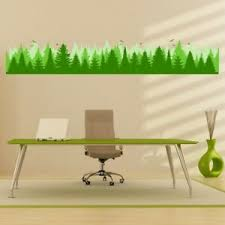 Green Forest Border Wall Decal Sticker Ws 47186 Ebay