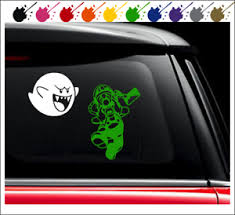 Luigi S Mansion 3 Themed Gooigi Car Decal Vinyl Window Decal Sticker Luigi Boo Ebay