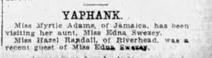 Myrtle Adams visits Aunt Edna, 1915 - Newspapers.com