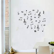Musical Notes Wall Stickers Artistic Pod