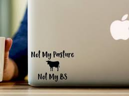 Funny Sticker Funny Decal Cow Cow Sticker Laptop Macbook Etsy