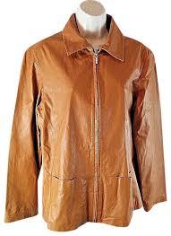 light brown pelle studio jacket size