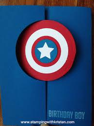 Captain America Card Tarjetas Creativas Regalos Marvel