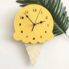 Ice Cream Wall Clock Cream Wall Clocks Kids Room Wall Decor Wall Clock Cartoon