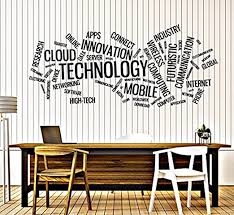 Amazon Com Vinyl Decal Wall Sticker Technology Word Cloud Innovation Connect Size 22x50 I Home Kitchen