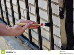 Painting Metal Fence Stock Image Image Of Metal Beautiful 59920701