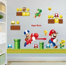 Super Mario Wall Decal Stickers Kids Bedroom Children Game Room Decor Removable Ebay