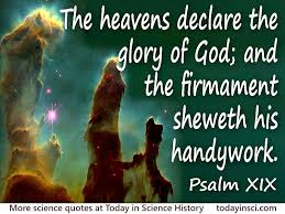 bible quote the heavens declare the glory of god large image