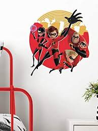 Roommates Incredibles 2 Peel And Stick Giant Wall Decals Amazon Com