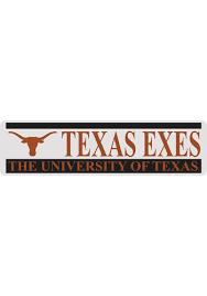 Texas Longhorns 3x10 Texas Exes Auto Decal Burnt Orange 16370711