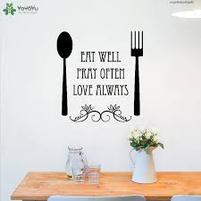 Wall Wall Decal Modern Sticker Kitchen Fork Spoon Quotes Eat Pray Love Removable Interior Art Decor Adhesive Design Wall Stickers For Sale Wall Stickers For The Home From Fanxin0506 18 66 Dhgate Com
