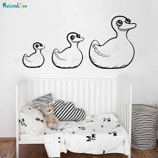 Vinyl Wall Sticker Cute Rubber Ducks Decals For Kids Room Self Adhesive Home Decoration Lovely Nursery Unique Gift Yt414 Wall Stickers Aliexpress