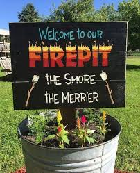Pin by Hillary Lawson on Camping 411 | Outdoor signs, Camping signs, Fire  pit
