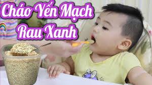 Cháo Yến Mạch Đơn Giản Giàu Viatmin & Đầy Dinh Dưỡng Cho Bé Ăn Dặm- Thực  Đơn Ăn Dặm cho bé 6 tháng - YouTube