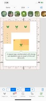veggie garden planner on the app