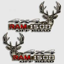 Dodge Ram 1500 Whitetail Deer Camouflage Truck Decal
