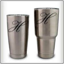 Monogram Initial Letter Decal Sticker Compatible With Yeti Rambler Tumbler Cup Ebay