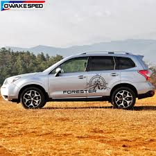 Compass Forester Graphics Sticker Car Body Decor Decals For Subaru Forester At Mt Off Road Styling Auto Door Side Stickers Car Stickers Aliexpress
