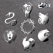 7pcs Lot Waterproof The Seven Deadly Sins Phone Laptop Kids Cos Diy 3d Metal Sticker Car Motorcycle Decal Decoration Stickers Stickers Aliexpress