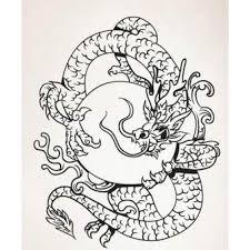 Asian Art Wall Stickers Circular Chinese Dragon Wall Decal