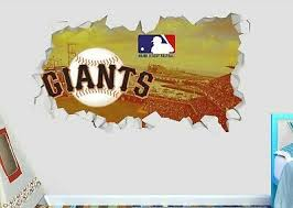 San Francisco Giants Baseball Mlb Custom Smashed 3d Wall Decal Sticker Ori675 In 2020 3d Wall Decals Wall Decal Sticker Wall Decals