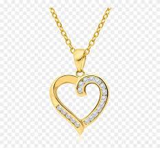 heart diamond pendant png clipart