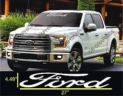Ford F 150 Windshield Window Vinyl Decal Sticker Custom Vehicle Logo Ebay