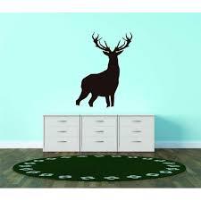 Custom Decals Prices Reduced Silhouette Buck Deer Antler Forest Animal Vinyl Wall Decal Bedroom Decoration Kids Boy Girl Teen Dorm Room 30x40 Walmart Com Walmart Com