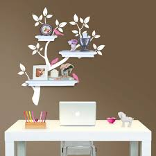 Tree Branch Decal With Birds For Floating Shelves The Etsy Tree Branch Decal Shelves Wall Decals