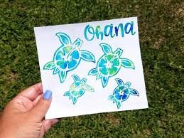 Sea Turtle Family Decal For Car Ohana Sticker Turtles Ocean Etsy