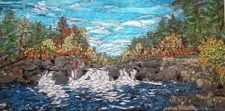 natural stone in landscape mosaics
