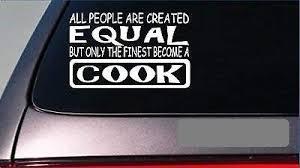 Amazon Com Cook Equal Sticker 8 Vinyl Cater Recipe Dessert Baking Pie Cake Chef Eat Home Kitchen
