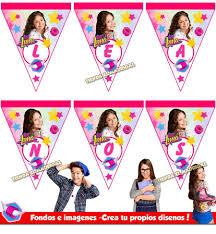 Kit Imprimible Soy Luna Tarjetas Invitaciones Candy Bar Son